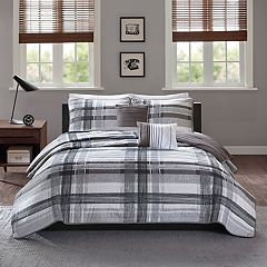 Intelligent Design Jax Plaid Coverlet Set