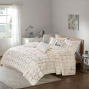 Intelligent Design Khloe Metallic Printed Coverlet Set