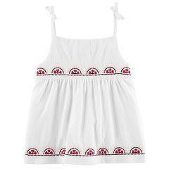 Baby Girl Carter's Embroidered Gauze Tank Top