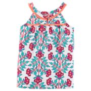 Toddler Girl Carter's Print Fringe-Trim Tank Top