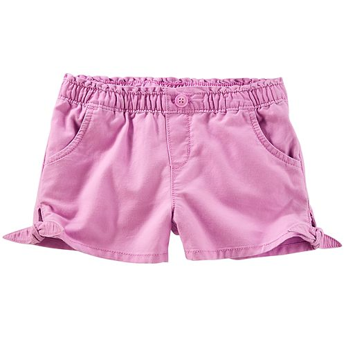 Baby Girl OshKosh B'gosh® Knot-Hem Denim Shorts