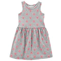Toddler Girl Carter's Print Shirred Tank Dress
