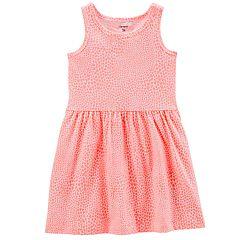 Toddler Girl Carter's Print Shirred Tank Dress