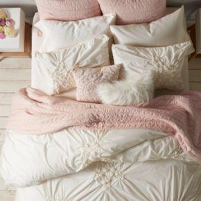 LC Lauren Conrad Floral Ruched Comforter Set
