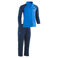 Toddler Boy Under Armour Mock Neck Zip Jacket & Pants Set