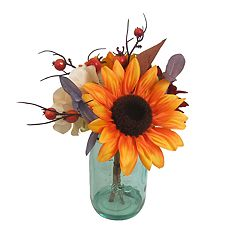 SONOMA Goods for Life™ Artificial Sunflower Mason Jar Table Decor