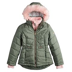 Girls 7-16 Free Country Solid Heavyweight Puffer Jacket
