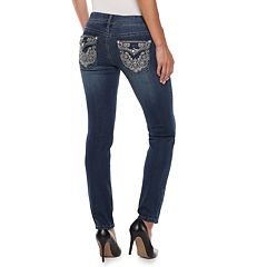 Women's Apt. 9® Embellished Straight-Leg Midrise Jeans