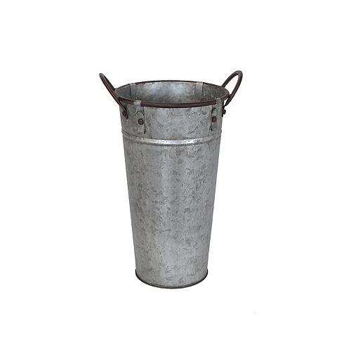 SONOMA Goods for Life™ Large Galvanized Metal Bucket Decor