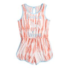Girls 7-16 Self Esteem Tank Romper