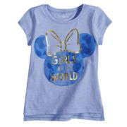 "Disney's Minnie Mouse Baby Girl ""Girls Run The World"" Graphic Tee by Jumping Beans®"