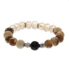 Believe In Glass Bead Lava Stone Essential Oil Bracelet