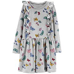 Girls 4-12 Carter's Print Ruffled Dress