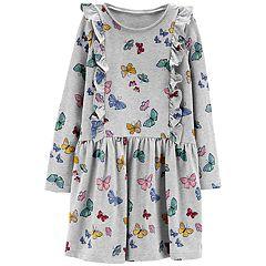 Girls 4-12 Carter's Print Ruffled Dress