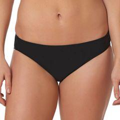 Women's Pink Envelope Solid Hipster Bikini Bottoms
