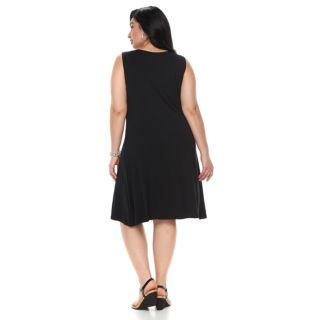 Plus Size Croft & Barrow® Pintuck Sleeveless Dress