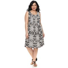 Plus Size Croft & Barrow® Pintuck Sleeveless Dress