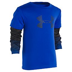 Toddler Boy Under Armour Abstract Mock Layer Logo Top