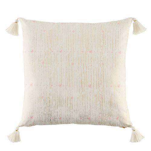 LC Lauren Conrad Metallic Print Throw Pillow