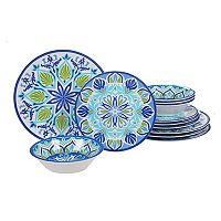 Certified International Morocco 12-piece Melamine Dinnerware Set