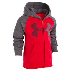 Toddler Boy Under Armour Logo Raglan Zip Hoodie