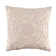 LC Lauren Conrad Pink Medallion Throw Pillow