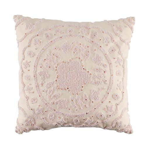 LC Lauren Conrad Pink Medallion Throw Pillow