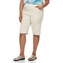 Plus Size Croft & Barrow® Pull-On Skimmer Denim Shorts