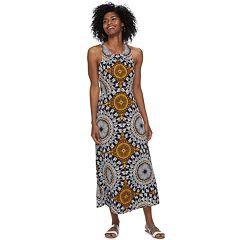 Petite Suite 7 Pleat Neck Maxi Dress