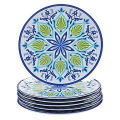Certified International Morocco 6-piece Melamine Dinner Plate Set