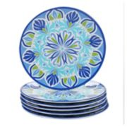 Certified International Morocco 6-piece Melamine Salad Plate Set