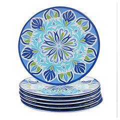 Certified International Morocco 6-piece Melamine Salad Plate Set