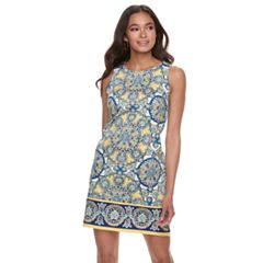 Petite Suite 7 Medallion Print Shift Dress