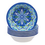Certified International Morocco 6-piece Melamine All-Purpose Bowl Set