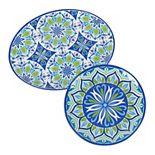 Certified International Morocco 2-piece Melamine Platter Set