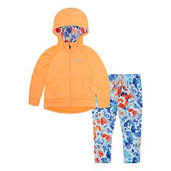 Toddler Girl Nike Therma-FIT Hoodie & Splatter Leggings Set