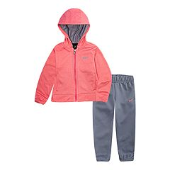 Toddler Girl Nike Therma-FIT Zip Hoodie and Pants 2-Piece Set
