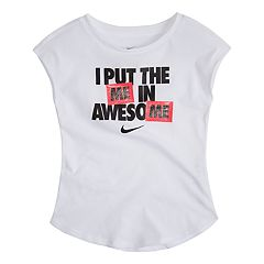 Toddler Girl Nike 'Awesome' Graphic Top