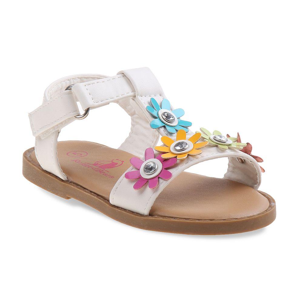 Rugged Bear Floral Toddler Girls' Sandals