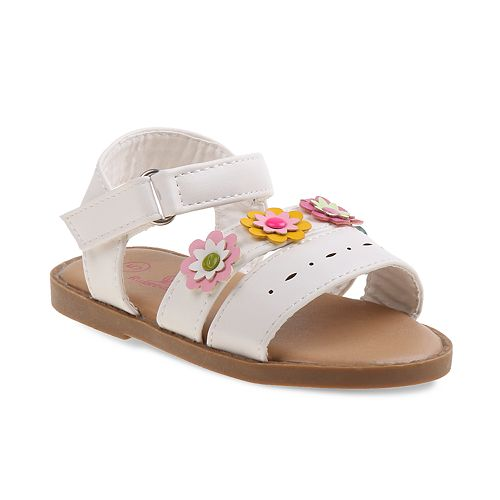 Rugged Bear Floral Toddler Girls' T-Strap Sandals