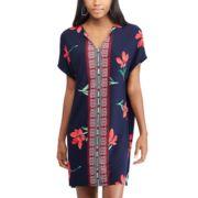 Women's Chaps Floral & Mosaic Print Shift Dress