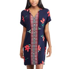 Women's Chaps Floral & Mosaic Print Shift Dress