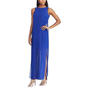 Women's Chaps Georgette Overlay Full-Length Dress