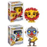 Funko POP! Disney Lion King Collectors Set: Simba (leaf mane) & Rafiki holding baby Simba