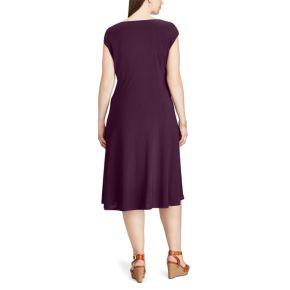 Plus Size Chaps Surplice Fit & Flare Dress