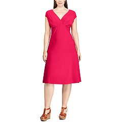 Plus Size Chaps Surplice Fit & Flare Dress