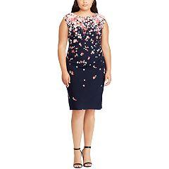 Plus Size Chaps Floral Sheath Dress