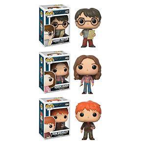 Funko POP! Movies Harry Potter Series 4 Collectors Set: Harry Potter w/ Marauders Map, Hermione w/ Time Turner & Ron Weasley w/ Scabbers