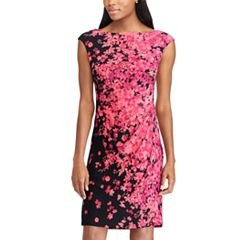 Petite Chaps Floral Sheath Dress
