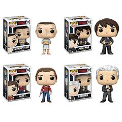 Funko POP! Television Stranger Things Collectors Set: Eleven w/ Hospital Gown, Jonathan w/ Camera, Nancy w/Gun & Brenner